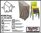 Raffles Covers RSTACK70high Schutzhülle für Garten Stapelstühle, Box Modell Schutzhülle für Stapelstühle und Relaxsessel, Abdeckhaube für Gartenstühle
