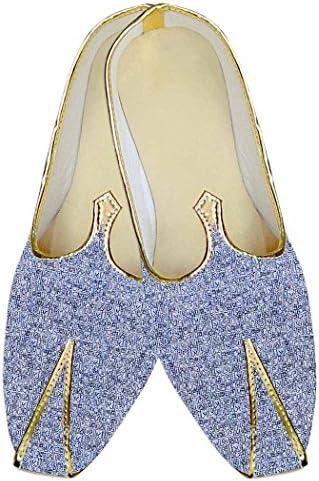 INMONARCH Cielo Azul Hombres Boda Zapatos Ropa de Fiesta MJ015974