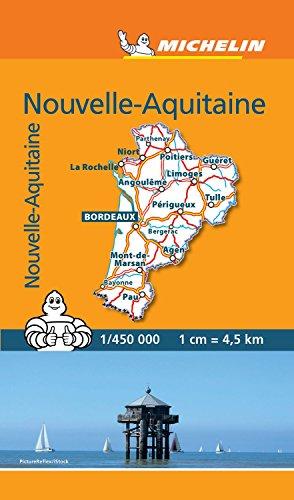 Mini Carte Nouvelle Aquitaine par Michelin
