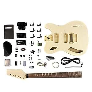 Semi Hollow GK-SCT-05 Guitare électrique kit DIY avec érable flammé Placage