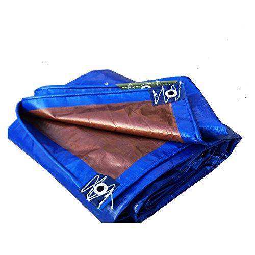 Teloni meiduo copertura poliestere super pesante - tela impermeabilizzata spessa, resistente ai raggi uv, rot, strappata e antistrappo per esterno (colore : blue, dimensioni : 3*4m)