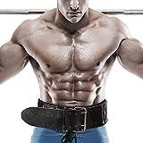 Gewichthebergürtel – 4,5 Zoll Leder Gym KDK Gürtel für Bodybuilding Krafttraining Kreuzheben Kniebeugen Rückenstütze Fitness Übung, Männer, Frauen - 4
