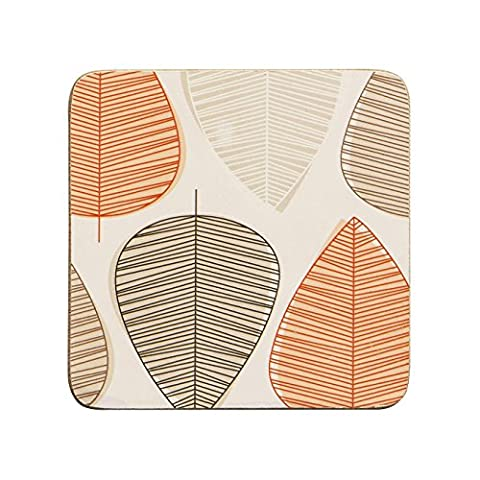 Premier Housewares Orange Leaf Coasters - Set of 4