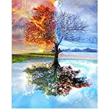 iDream Home Decoration 5D Diamond Painting Rhinestone Seasons Tree DIY Mosaic Wall Decor