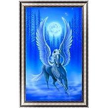 Jagenie 5D pittura di diamante ricamo a punto croce fai da te artigianale cavallo alato con ali 30*46cm