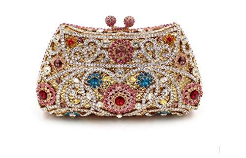 Damen-Abendessen Set Strass Diamanten und Diamanten High-End-Diamant-Wallet Glänzende Handtasche Bankett 4
