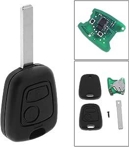 433 Mhz Autoschlüssel Mit 2 Tasten Zentralveriegelung Fernbedienung Schlüsselanhänger Mit Chip Und Va2 Schlüsselblatt Für Citroen C1 C2 C3 C4 Xsara Picasso 2000 2009 Auto