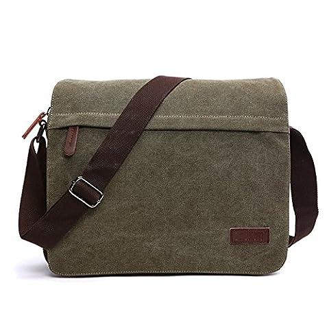 LOSMILE Men's Messenger Bag, Canvas Shoulder Bags, 13.3