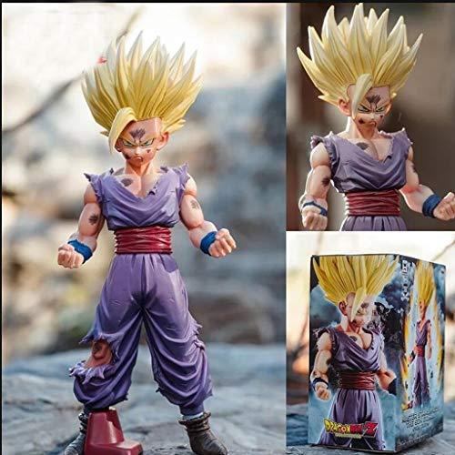 XINKONG Estatua de Juguete Dragon Ball Estatua de Juguete Colección de Personajes de Dibujos Animados Recuerdo Saiyan Modelo de Juguete Super Saiyan Sun Wufan 20 CM