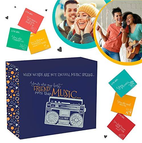 Listen When Letters - An Open When Cards with Music Design! Das beste Geschenk, um Freundschaft zu feiern. (Musik nicht im Lieferumfang enthalten)