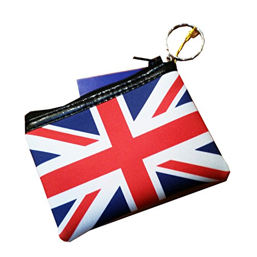 Portemonnaie mit Union Jack Design, mit Reißverschluss London Geldbörse