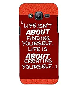 ColourCraft Quote Design Back Case Cover for SAMSUNG GALAXY J2 DUOS