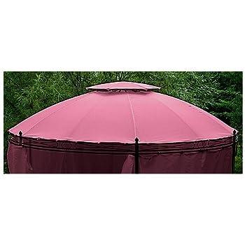 Amazon.de: Ersatzdach für Rund Pavillon burgund 3, 5 m