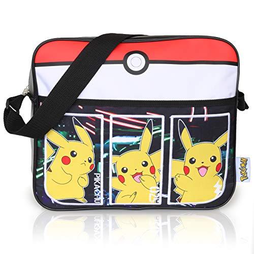 Pokémon Sport Tasche Für Jungen | Kinder Messenger Tasche Mit Pikachu | Langer Crossbody Träger | Kinder Reisetasche | Geburtstagsgeschenk Für Junge