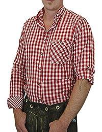 Trachtenhemd Lutz mit Stehkragen und Krempelärmeln 100% Baumwolle verschiedenen Ausführungen