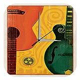 Horloge murale D\'Étoile Décoration guitare Nashville Tennessee Fun Publicité Imprimee Plexiglas 25x25 cm