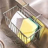 Soporte de Esponja de Cocina, Caja de Organizador para Fregadero Soportes de Acero Inoxidable Estante de Escurridor de Líquido para Lavar Platos Almacenamiento de Cepillo de Botella de THETIS Homes
