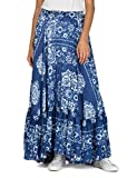 Replay Damen Rock W9187A.000.71508, Mehrfarbig (Blue/White Flowers 20), Small
