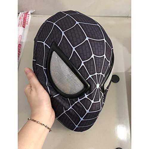 KYOKIM Spiderman Maske Halloween Mottoparty Helm Cosplay Karneva Kind Erwachsener Herren Held Vollen Kopf Deluxe Replik,Black (Kostüm In Black Men Halloween)