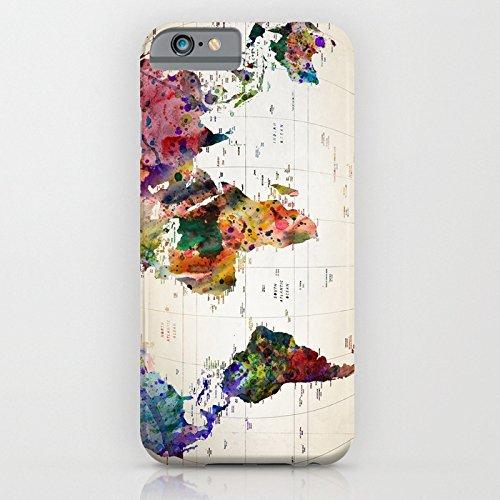 Cover iPhone 6s,TPU Gel Silicone Protettivo Skin Custodia Protettiva Shell Case Cover Per Apple iPhone 6 6S-Stelle Design Map