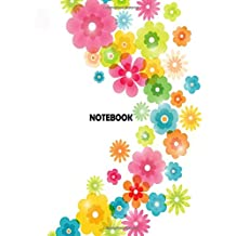 """NoteBook: Flowers On The White Cover Notebook Journal Diary, 110 lines pages, 8.5"""" x 11"""", Date on top: Volume 1 (Flowers On The Cover)"""