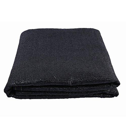 HUO Filet résistant UV UV de Tissu d'ombre de Sunblock de 4m 90% de Sun avec la Bande renforcée et l'oeillet (Couleur : Black, Taille : 4 * 4m)