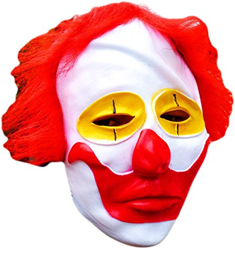Clown Kunststoff Maske (BÖSER CLOWN Latex-Mesh Maske)