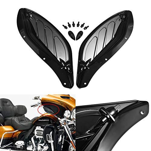 NATGIC - Deflettore d'Aria Laterale per Moto, Regolabile, in plastica ABS, per Harley Touring 96-13 (New-Black)