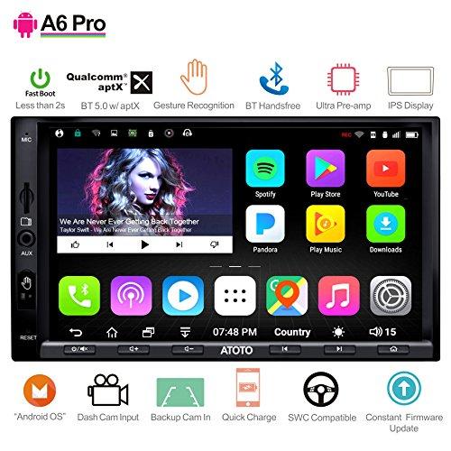 ATOTO [NEU] A6 Android Auto Navigation Stereo with 2X Bluetooth & Telefon Schnellladung - PRO A6Y2721PRB-G 2DIN In Dash Unterhaltung Multimedia Radio,WiFi,Gestenbedienung, Unterstützung 256G SD &mehr