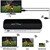 1Byone Wireless HDMI WiFi Dongle WiFi2Display Videos Images Docs Live Camera Musics from All Smart Devices to TV, Monitor or Projector