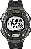 Timex - Homme - T5K821 - Quartz Digitale - Deux Fuseaux Horaires/Alarme/Eclairage/Chronomètre/Temps intermédiaires - Noir - Noir - Plastique