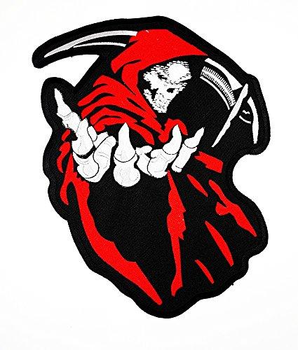 Big Sensenmann Choppers Ghost Rider Patch Weste/Jacke Biker Patch Motorrad Fahrer Biker Tattoo Jacke T-Shirt Patch Sew Iron on gesticktes Schild ()