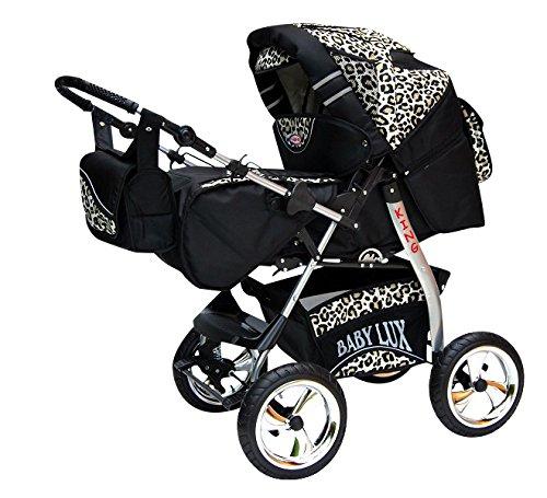 Kinderwagen King + Autositz Cosmic Black & Leopard