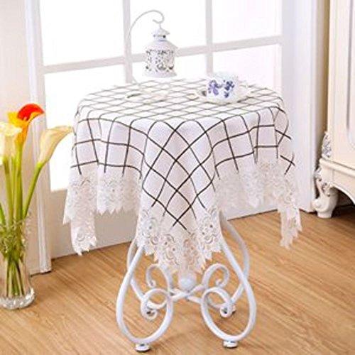 Lace Lace Table Mat Stoff-tischdecke Moderne Einfache tischdecke Home Appliance Cover Runde tischdecke-C 130x180cm(51x71inch)