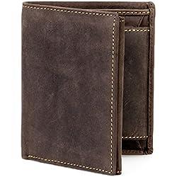 Visconti Hunter Cartera / Billetera de hombre de cuero engrasado desgastado # 708
