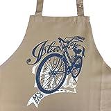 I Love to Ride My Bike - Fahrrad Grillschürze, Kochschürze als Geschenk für Fahrradfahrer - Hollandrad, Zubehör, Geschenkidee für Fahrradliebhaber, Radfahrer