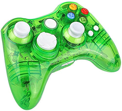 Molyhood Xbox 360 Controller per Xbox360 Slim PC Gamepad LED Trasparenti Joystick Controller per PC Windows di Microsoft Xbox 360 Wireless Controller 7 XP Whit Joypad per Windows Bluetooth