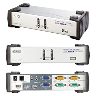 ATEN CS1742 2-Port USB VGA Dual Display/Audio KVMP Switch