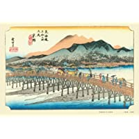 300P jigsaw Sanjo Ohashi (Fifty-three Stages of the Tokaido) (japan import)