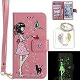 Produkt-Bild: für iPhone 6 PU Fluoreszenz Leder Silikon Schutzhülle Handy case Book Style Portemonnaie Design für iPhone 6S 4.7