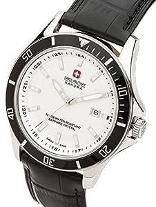 Swiss Military 06-4161.7.04.001.07 - Reloj analógico de cuarzo para hombre con correa de piel, color negro de Swiss Military