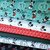 Mickey & Minnie Mouse Stoff-Bundle – Mickey Mouse blau