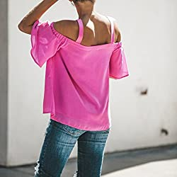 2018 Woman Off Shoulder Tee, est Summer Sexy V Neck Short Sleeve Fashion Ladies Solid T-Shirts Blouse Tops Holiday Party Beach Office Shirts by GreatestPAK