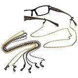 OUTERDO Brillenschnur Brillenband Brillenkordel Kette Sportband Metall Für Brille 61CM