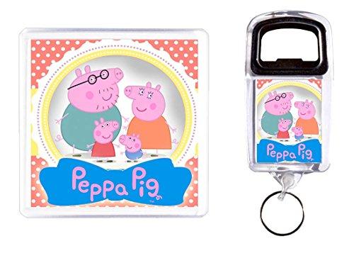 Apri bottiglia e sottobicchiere Peppa Pig 2