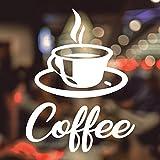 Kaffee Tasse Fenster Glas Aufkleber Takeaway Shop Aufkleber Fenster Schriftzug Art Wand Schild Takeaway Decor