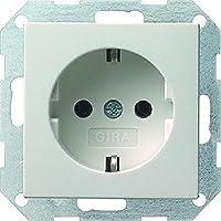 Gira 018803 Schuko Steckdose System 55, reinweiß
