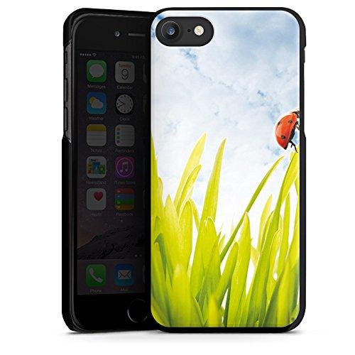 Apple iPhone X Silikon Hülle Case Schutzhülle Grashalm Marienkäfer Himmel Hard Case schwarz