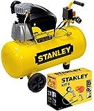 Compressore aria Stanley D210/8/50 50 lt lubrificato 2HP 8bar + KIT accessori 8 pz