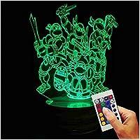 TMNT - Teenage Mutant Ninja Turtles Decorative Lamp We Are Ready (3D Hologram Illusion)